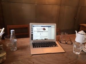 My Desk on teh mezz at Cafe marmalade